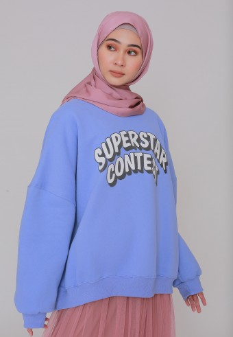 SUPERSTAR CONTEST SWEATSHIRT IN PALE PURPLE BLUE