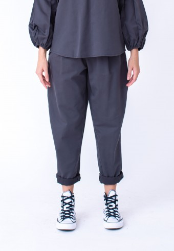 EIWIN PANT IN DARK GREY