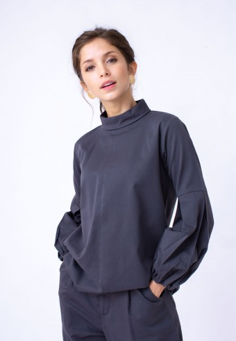 EIWIN TOP IN DARK GREY