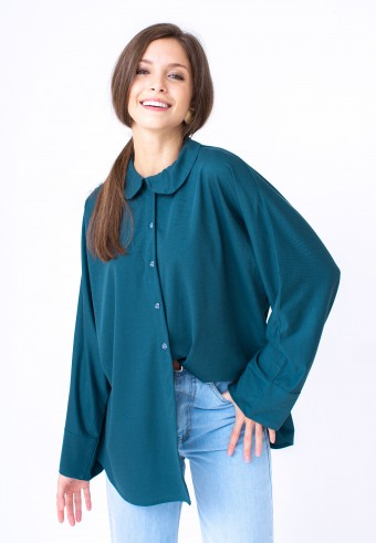 KANA TOP IN EMERALD