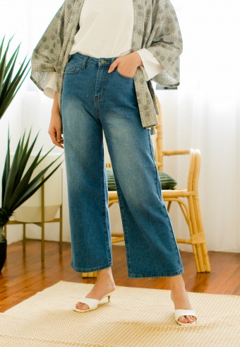 Edin denim pants in Deep blue