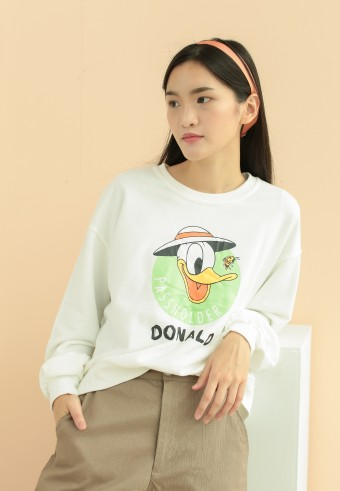 Donald sweatshirt in white