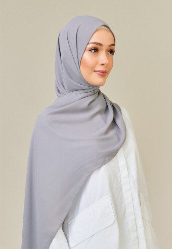 Meyna long shawl in grey