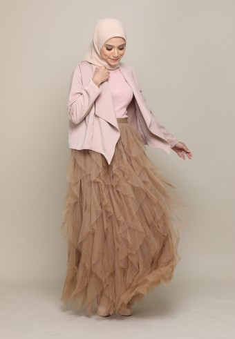 A-CUT TUTU SKIRT IN BROWN