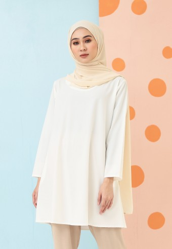 MIDI PLAIN TOP IN WHITE