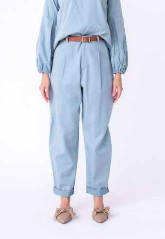 EIWIN PANT IN DUSTY BLUE