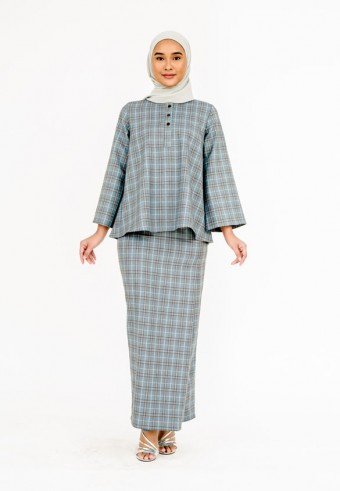 Mesra Grid Kurong In Brown & Grey