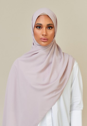 Meyna long shawl in ash brown