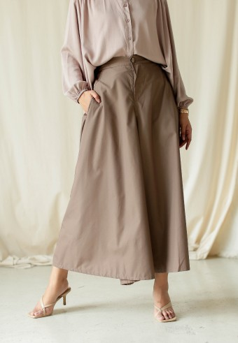 Alaia wide pants in milo