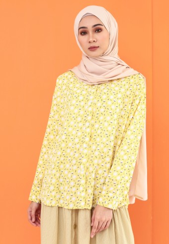 SMALL PATTERN TOP IN YELLOW