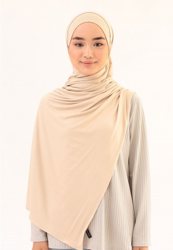 WHISH COTTON SHAWL IN CREAM CHEESE