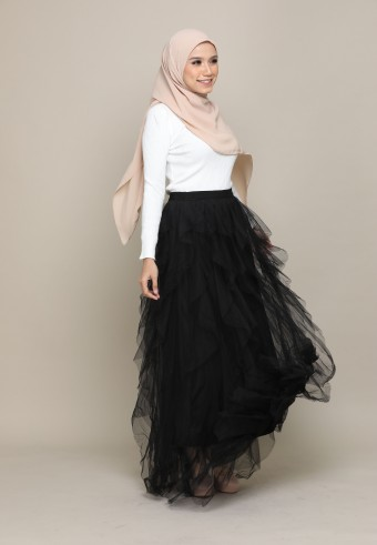 A-CUT TUTU SKIRT IN BLACK