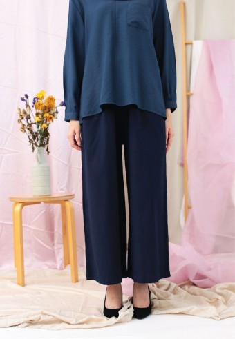 ROPED WIDE PANTS IN DARK BLUE