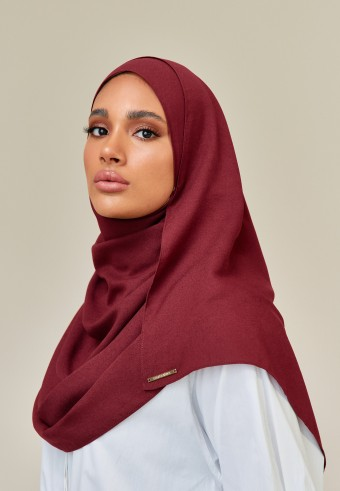 Humura long shawl in maroon
