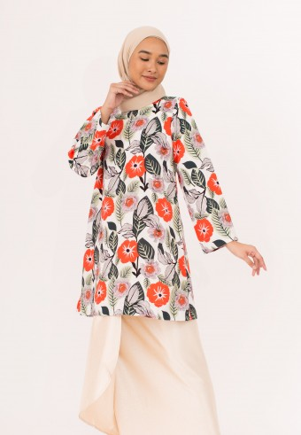 Indah Pahang Kurong In Red Cream