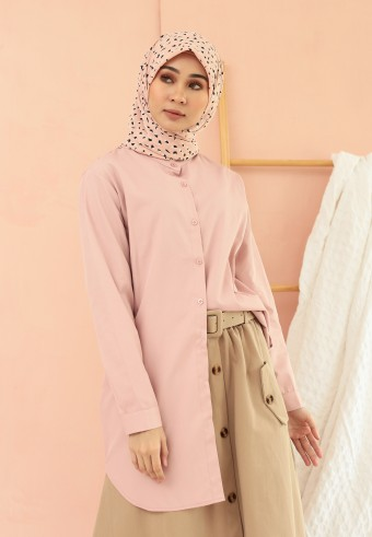 MIDI BUTTON TOP IN PINK