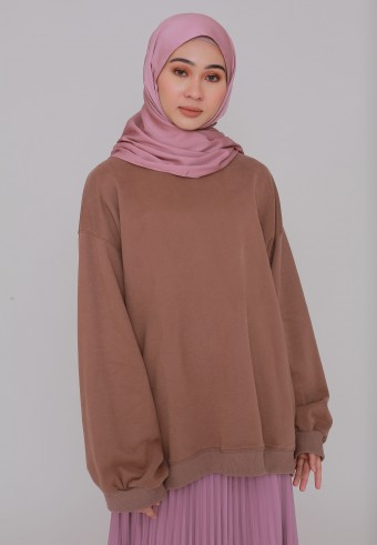 TURTLENECK SWEATSHIRT IN BROWN