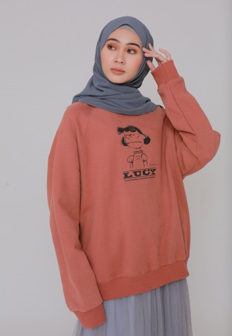 LUCY SWEATSHIRT IN BROWN