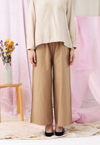 ROPED WIDE PANTS IN BROWN