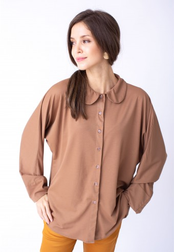 KANA TOP IN BROWN