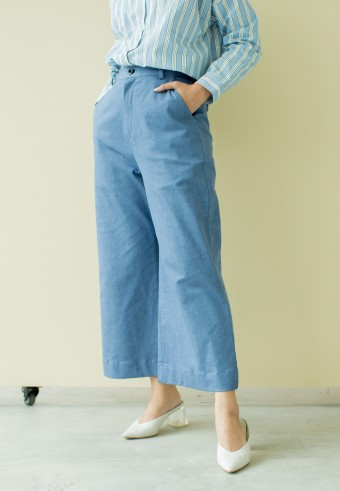Nomi Pant in Denim