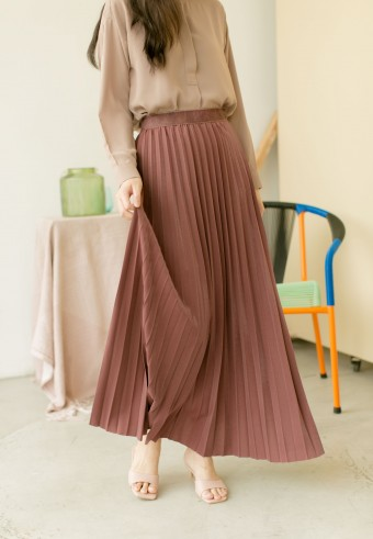 Bahama Pleated Skirt In Barbie