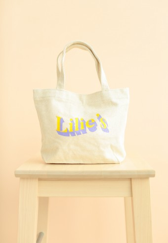 Lilies's Tote Bag in yellow purple