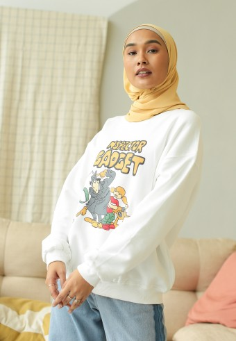 Inspector sweatshirt in white