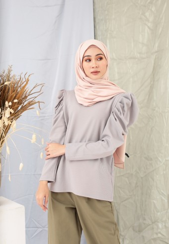 PUFFY TOP IN LIGHT GREY