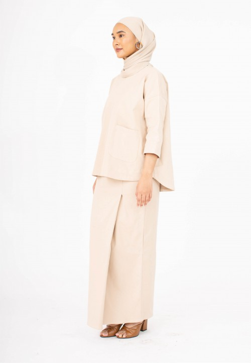 Boxy Kurong Kedah in LIGHT BROWN