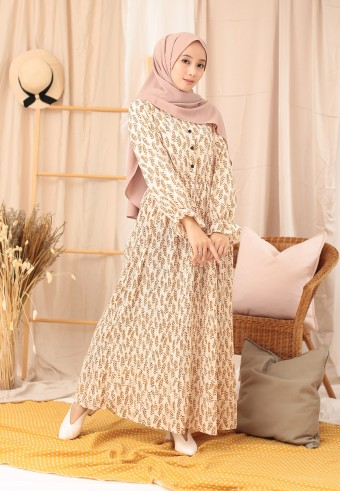 BUCKWHEAT LONG DRESS IN CREAM