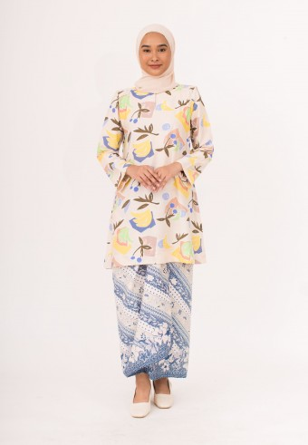 Indah Pahang Kurong In Banana mix Blue