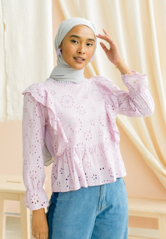 Aisie blouse in purple