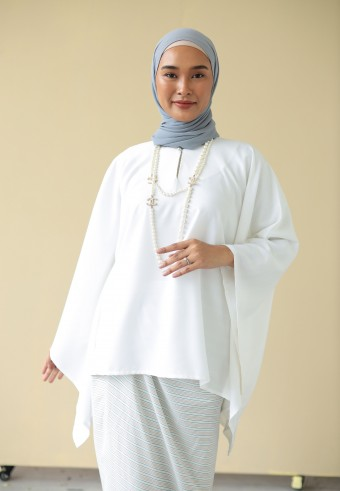 Widuna top in white