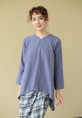 Qasara top in mauve