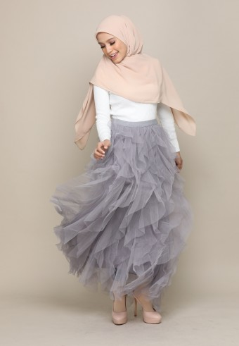 A-CUT TUTU SKIRT IN GREY