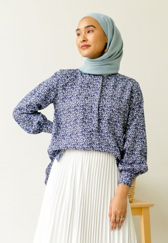 Rie Blouse In Blue Pearl