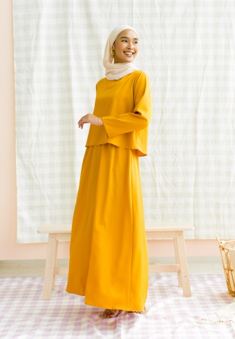 Alea dress in mustard