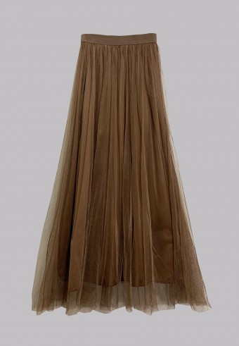 TUTU SKIRT IN BROWN