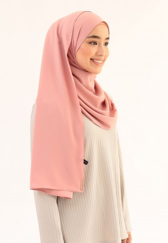 SUE CURVE SHAWL IN ROSE GOLD
