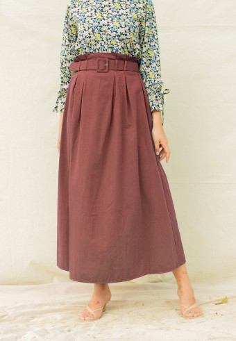 elyn skirt in brown