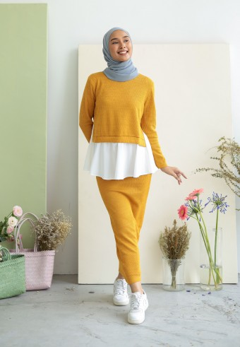 Nera set in mustard