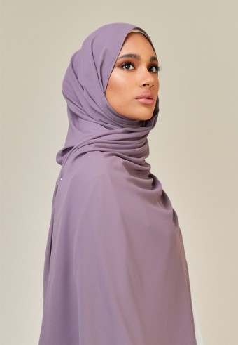 Meyna long shawl in prune