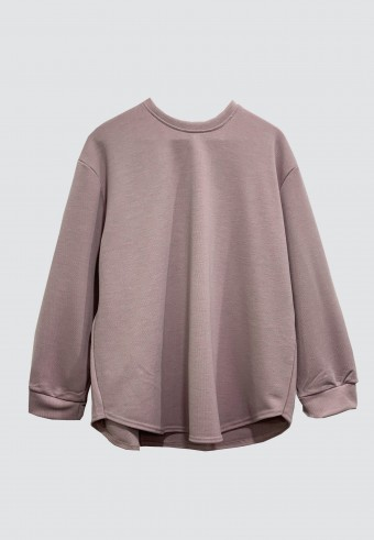 SOFT LINE PLAIN TOP IN DUSTY PINK