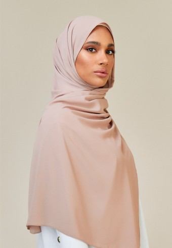 Meyna long shawl in stereo pink