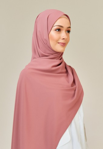 Meyna long shawl in mauve