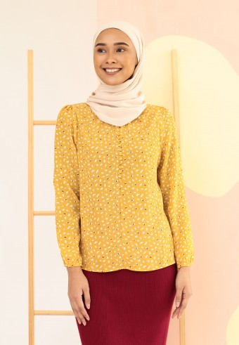 PATTERN BASIC TOP IN BRIGHT YELLOW