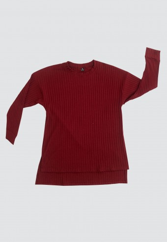 IRONLESS LOOSE TOP IN MAROON