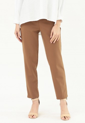 PLAIN FORMAL PANT IN BROWN