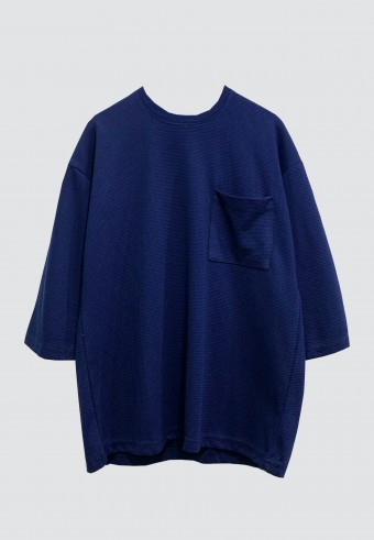 FRONT POCKET LOOSE TOP IN ROYAL BLUE